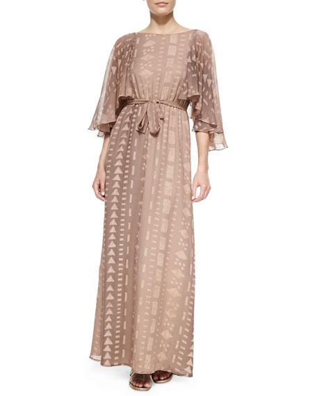 Zara Silk Open-Back Maxi Dress
