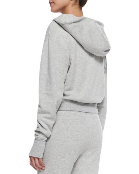 Sadie Cropped Knit Hoodie Sweatshirt