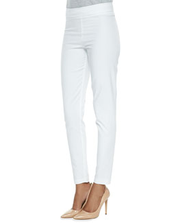 Avenue Montaigne Billy Straight-Leg Pants, White