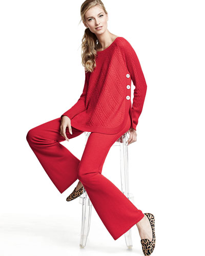 in CASHMERE Two-Piece Cashmere Sweater & Pants Set