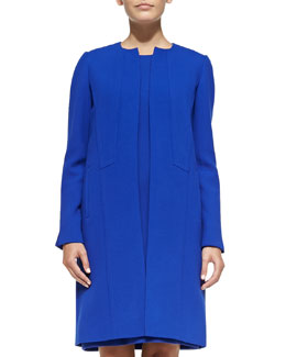 Soraya Seamed Open-Front Coat
