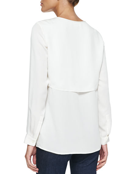 Double-Layer Long-Sleeve Blouse