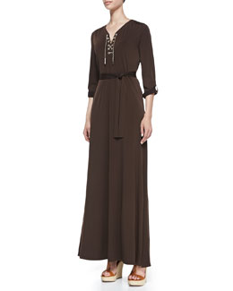 MICHAEL Michael Kors  Lace-Up-Front Maxi Dress