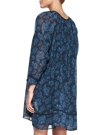 Boho Paisley-Print Tunic Dress