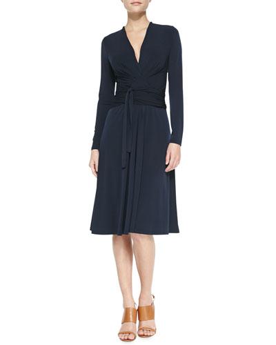 MICHAEL Michael Kors  Long-Sleeve Faux-Wrap Jersey Dress, Women's