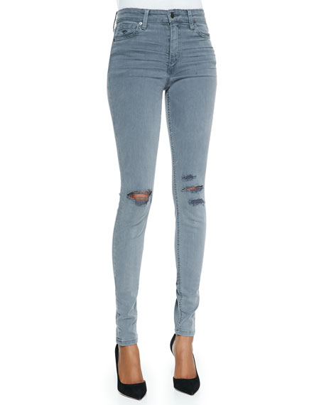 High-Rise Destroyed Skinny Jeans, Carey
