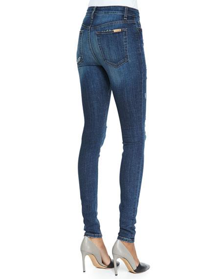 High-Rise Destroyed Skinny Jeans, Riri