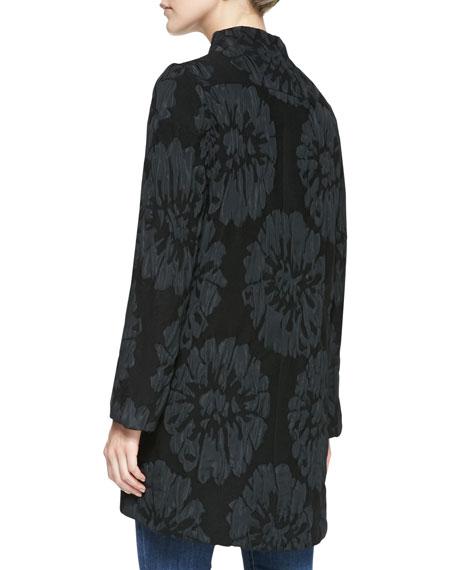 Long-Sleeve Luxe Garden Coat