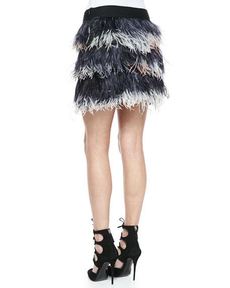 Feather Miniskirt