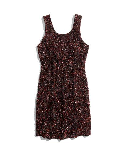 Parker Kenzie Allover Beaded Sheath Dress, Copper