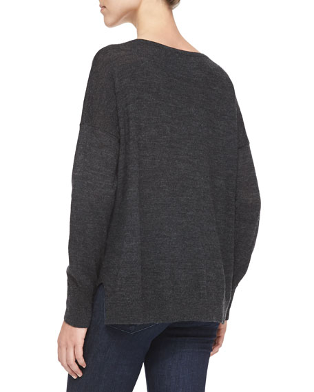 Polar Fun Knit Sweater, Dark Gray Melange