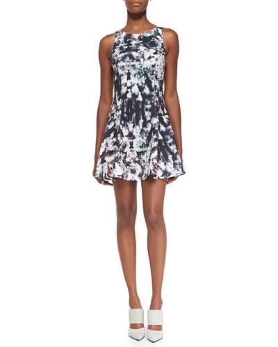 Addison Rose-Print Drop-Waist Dress