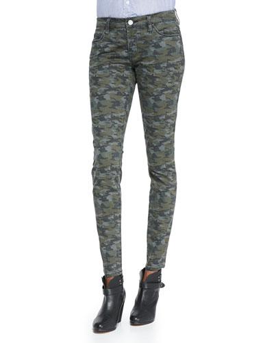 Blank Camolot Camo-Print Skinny Jeans, Green