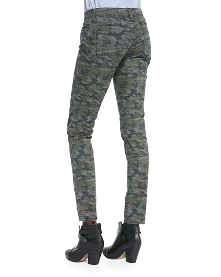 Camolot Camo-Print Skinny Jeans, Green