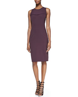 Veronica Beard Sleeveless Seamed Sheath Dress