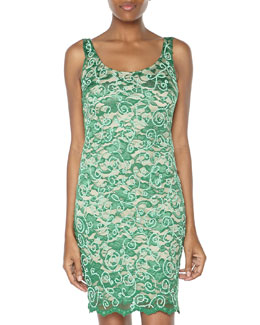 Alexia Admor Beaded Sequined Lace Sheath Dress, Emerald