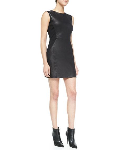 Waverly Grey Leo Sleeveless Faux-Leather Dress