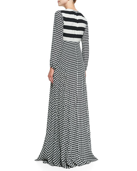 Perfect Storm Long-Sleeve Maxi Dress