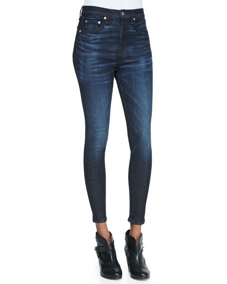 Justine Anfield High-Rise Zip-Cuff Denim Jeans