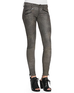 rag & bone/JEAN RBW 23 Leopard-Print Leather Pants