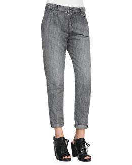 rag & bone/JEAN Aberdeen Silver Chambray Trousers