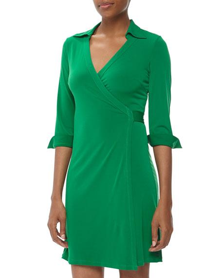 Milo Jersey Wrap Dress, Kelly Green