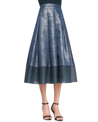NOIR sachinbabi Combo Midi-Length Ball Skirt