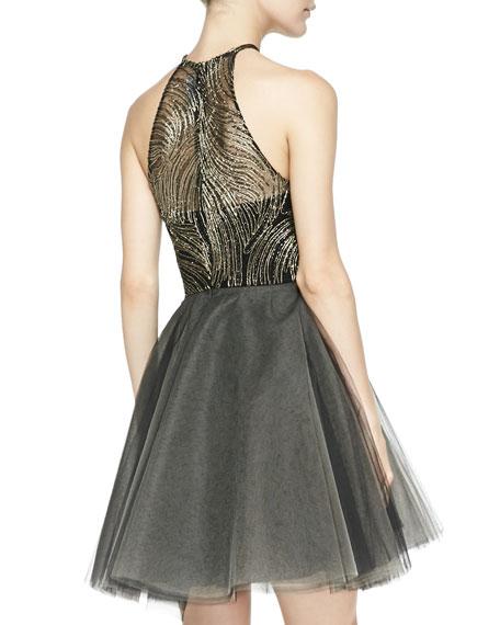 La Brea Halter-Neck Cocktail Dress