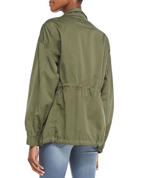 Twill Leisure Parka Jacket, Recruiter Green