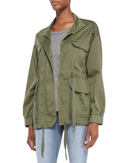 Twill Leisure Parka Jacket, Recruiter Green