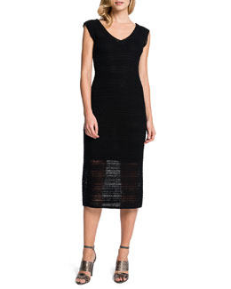 Cynthia Steffe Clemmie V-Neck Crocheted Dress