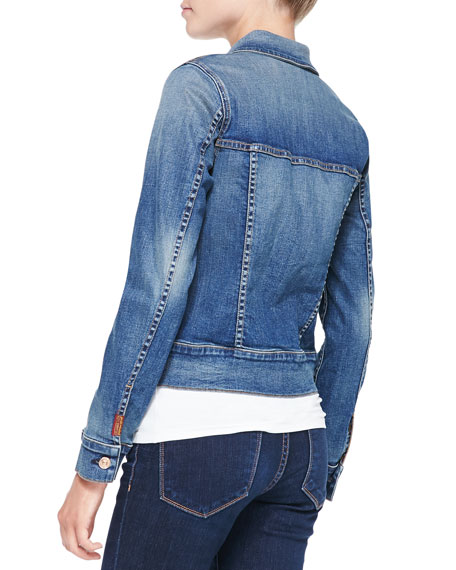 Classic Faded Denim Jacket, Absolute Heritage