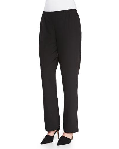 Travel Gabardine Straight-Leg Pants, Women's