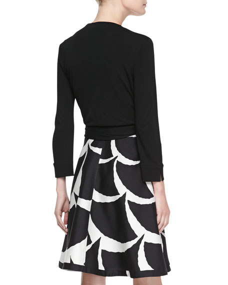 Amelia Printed Flared Wrap Skirt