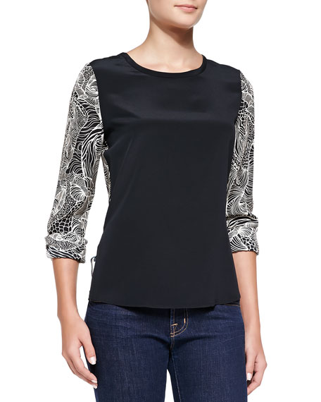 Louisa Solid- Front Blouse