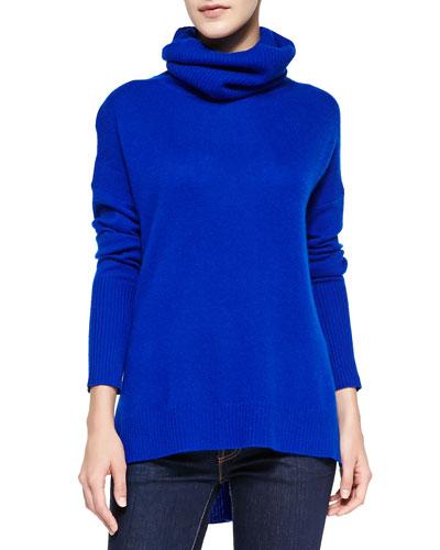Diane von Furstenberg Ahiga High-Low Cashmere Turtleneck Sweater
