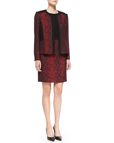 Albert Nipon Sleeveless Sheath Dress with Matching Jacket