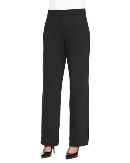 Joan Vass Full-Length Jog Pants, Black