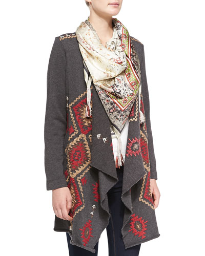 Johnny Was Collection Vintage Tapestry Printed Scarf