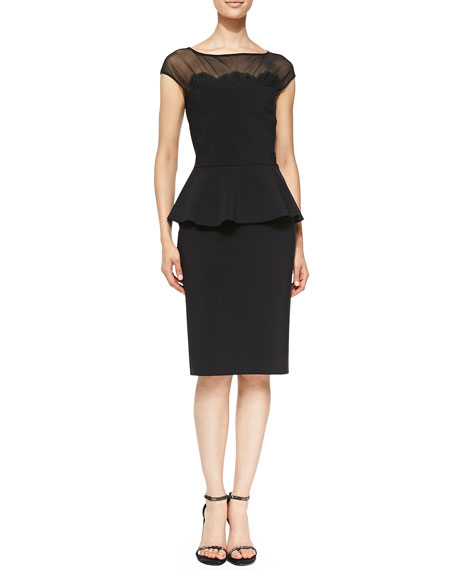 Lucetta Lace Appliqué Cocktail Dress