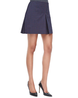 Tory Burch Klarissa Twill Pleated Skirt