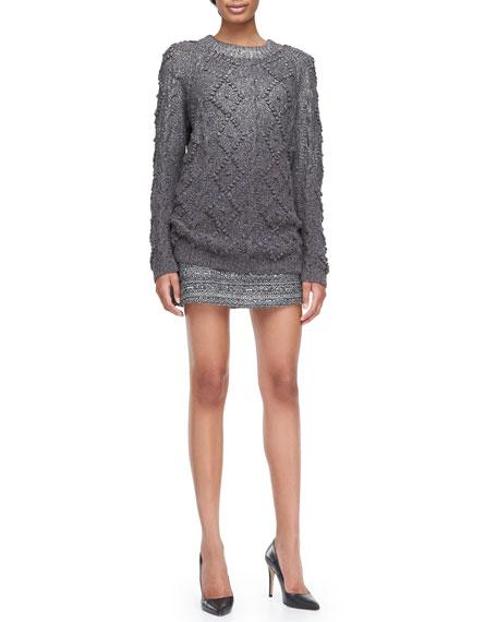 Ada Striped Tweed Skirt