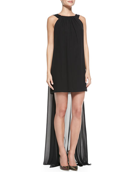 Vivienne Sleeveless Draped-Back Cocktail Dress