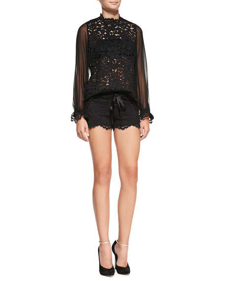 Martinique Lace Drawstring Shorts