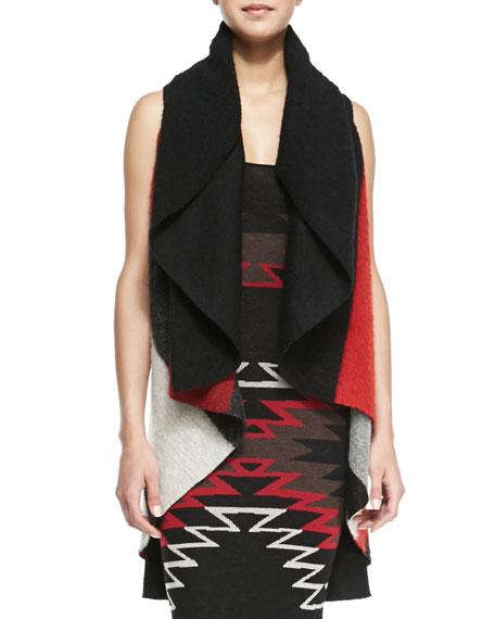 Keira Colorblock Knit Draped Vest