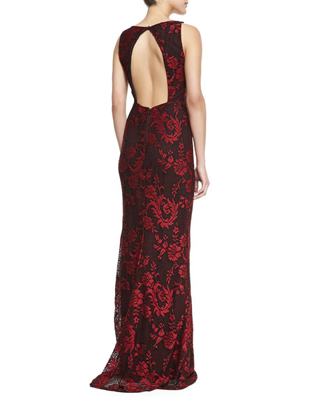 Veda Lace Open-Back Gown