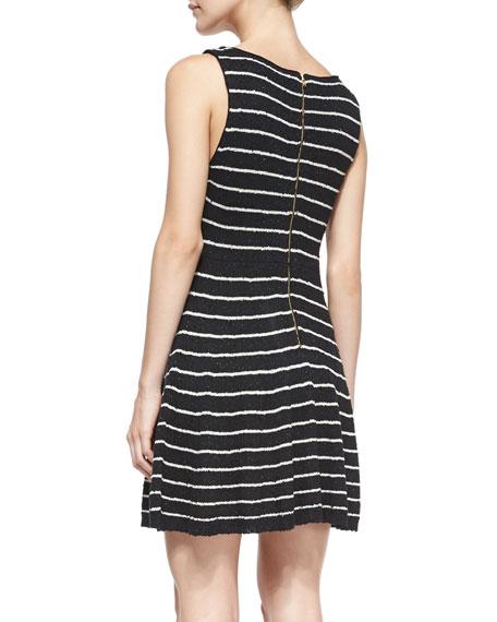 Monah Shimmery Striped Knit Dress