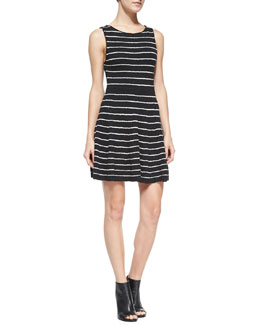 Alice + Olivia Monah Shimmery Striped Knit Dress