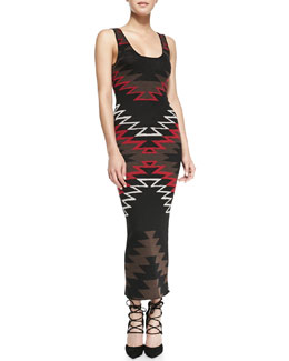 Alice + Olivia Tribal-Print Knit Maxi Dress