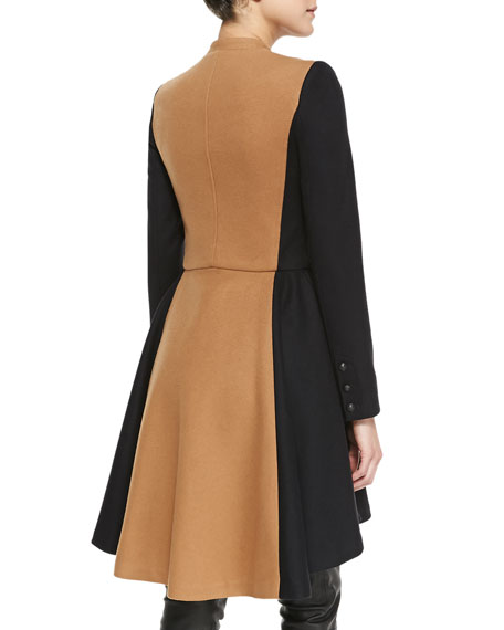 Cohen Two-Tone Military Coat